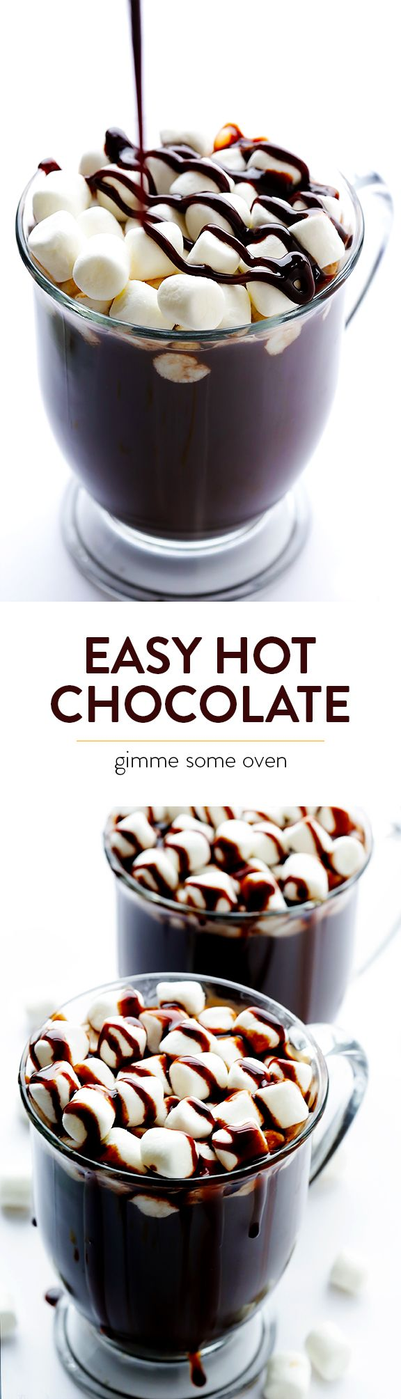 All you need are 5 easy ingredients to make delicious homemade hot chocolate from scratch | gimmesomeoven.com