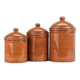 Westerm Canister | Montana Silversmith Rustic Ranch 3 Pc Canister Set Style  70873