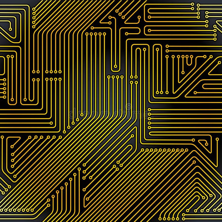 Computer circuit board seamless pattern. Computer electronic technology backgrou , #sponsored, #board, #seamless, #Computer, #circuit,