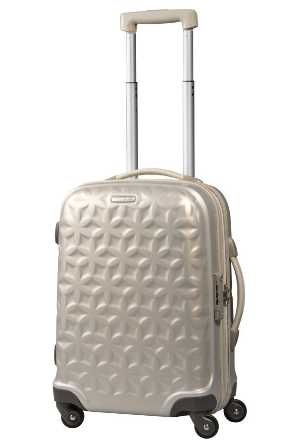 Samsonite Essensis Spinner 55cm/20inch Ivory - Samsonite.co.uk