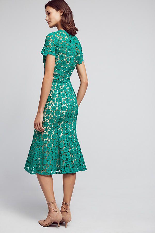 Slide View: 2: Symphony Lace Midi Dress