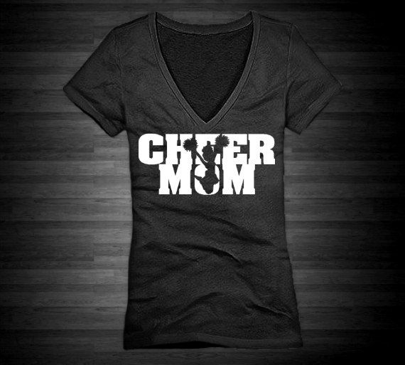 great cheer mom design use heat transfer materials and a heat press to personalize apparel - Cheer Shirt Design Ideas