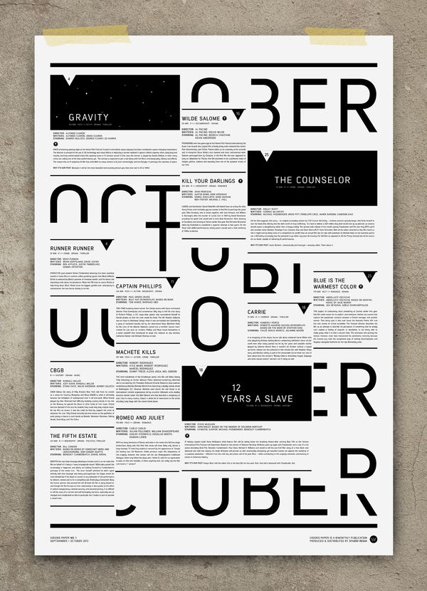 Love the way you can still read the word OCTOBER - by Studio Regia #GraphicDesign #Poster #Typography