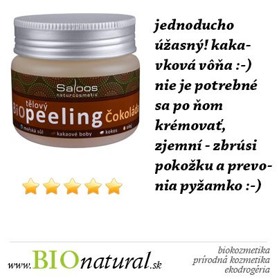 Čokoládový telový píling #Saloos http://www.bionatural.sk/cokolada-telovy-piling-140-ml-p-2556.html