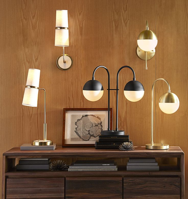 Cedar moss collection from rejuvenation table desk lamp and wall sconces in brushed
