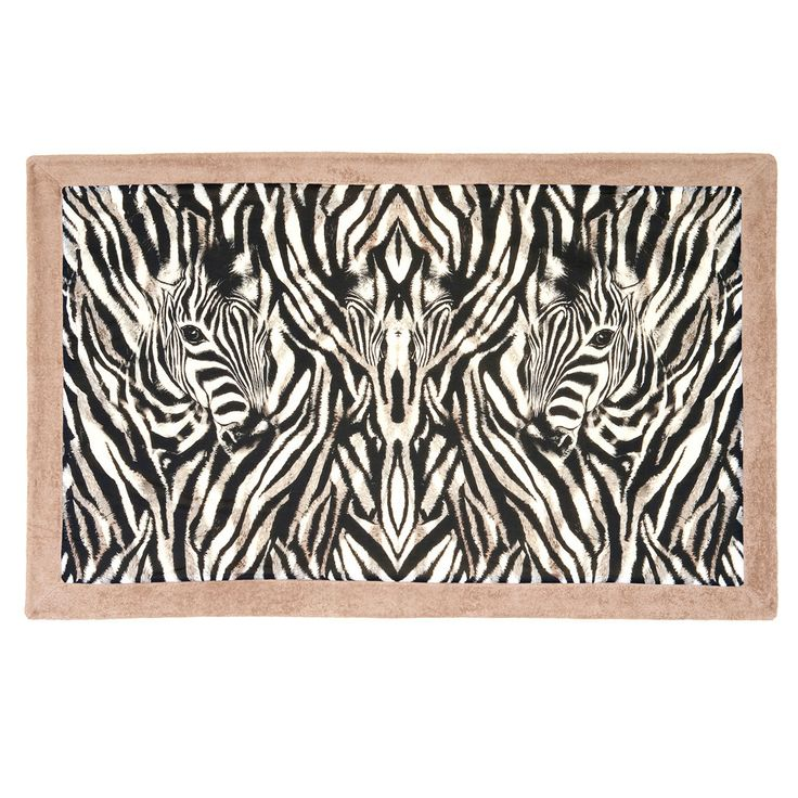 Hit the beach in style with this zebra print luxury towel!