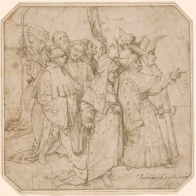 Copy after? Hieronymus Bosch | Group of Ten Spectators | Drawings Online | The…