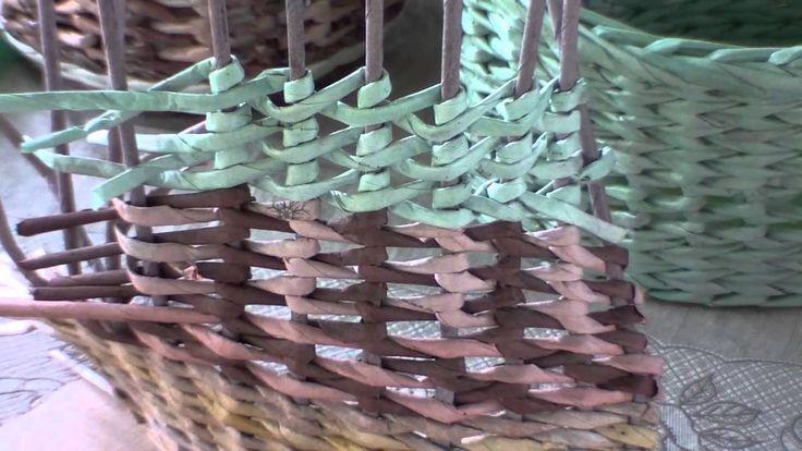 """Газетное плетение. Узор """"столбики с накидом""""."""