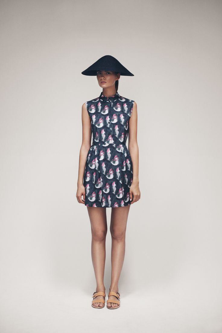 Cone Hat and Kirje Dress   Samuji SS15 Seasonal Collection