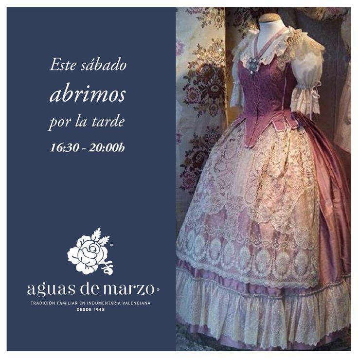 En febrero, abril y marzo, Aguas de Marzo abre su tienda de indumentaria en Valencia los sábados por las tardes de 16:30 a 20:00h para lo que necesitéis. ¡Os esperamos!