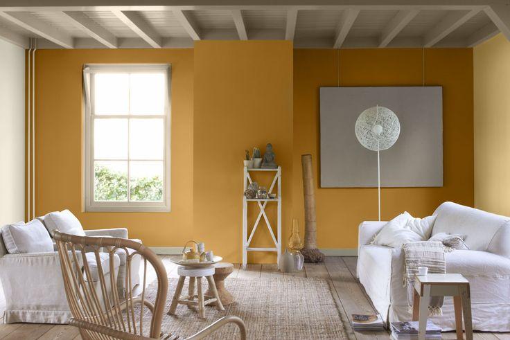 Flexa Couleur Locale nodigt jou uit voor een boeiende reis door een wereld vol kleuren. Waan je in je eigen woonkamer in tropische oorden met de kleuren uit de kleurlijn Positive Thailand. Kleurgebruik: Positive Gold, Positive Ginger, Positive Bamboo en Positive Mist.