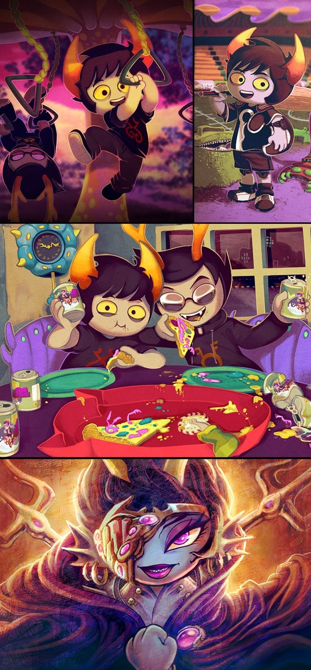 Homestuck Adventure Game by MS Paint Adventures — Kickstarter looook at Xefros and Dammek! They're so cute!