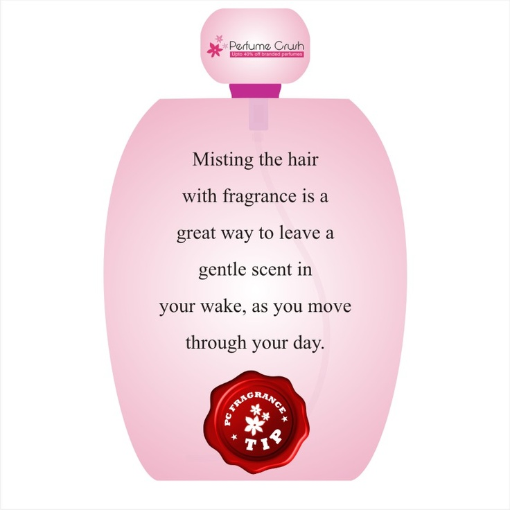 How about applying scent to your wavy hair?