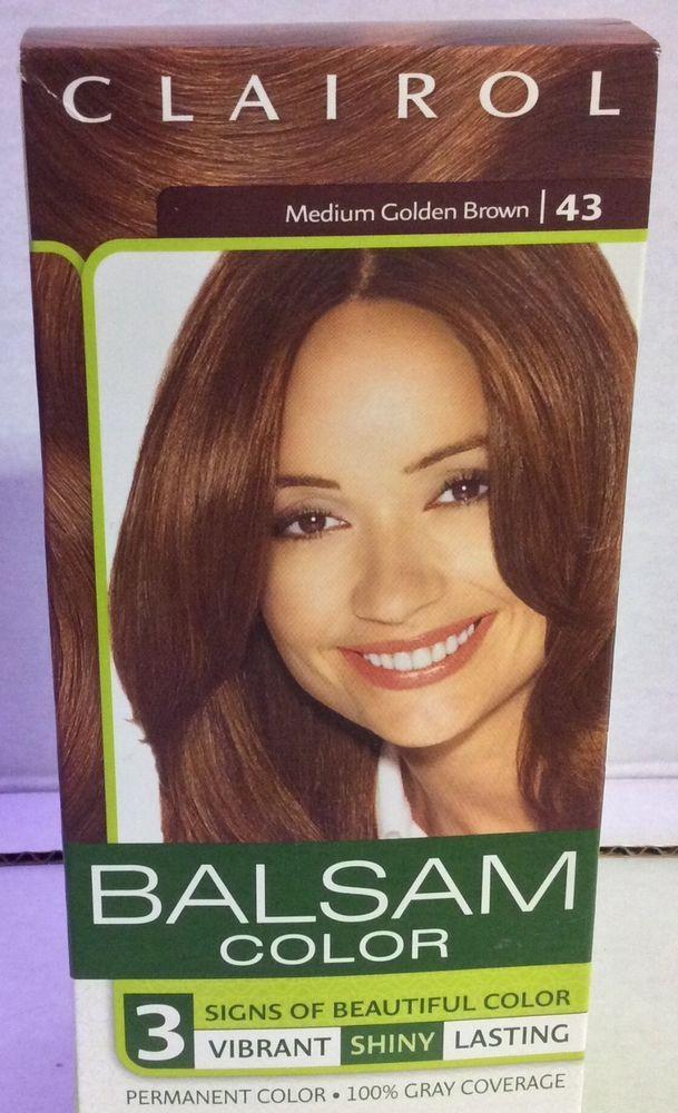 Clairol Balsam Color Permanent Hair Dye - 43 Medium Golden Brown  #Clairol
