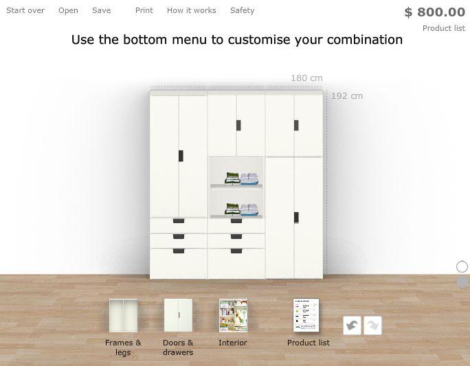 Ikea Stuva Combination in white