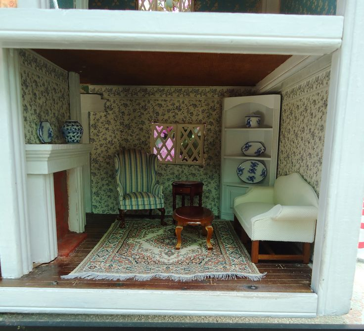 The Fireplace Is Original To The Dollhouse, But I Bricked And Mortared The  Inside And