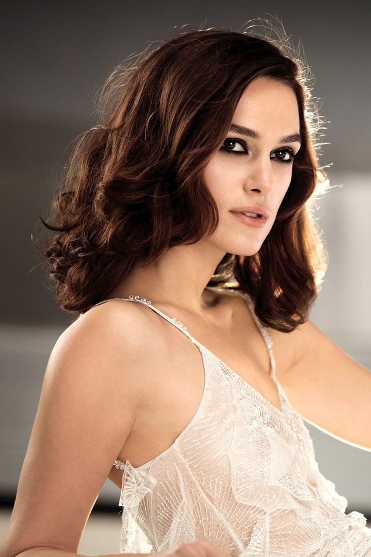 The contrast between the white dress, her dark hair and eyes and fair skin make this absolutely gorgeous!  Keira Knightley Stars in New Chanel Ad