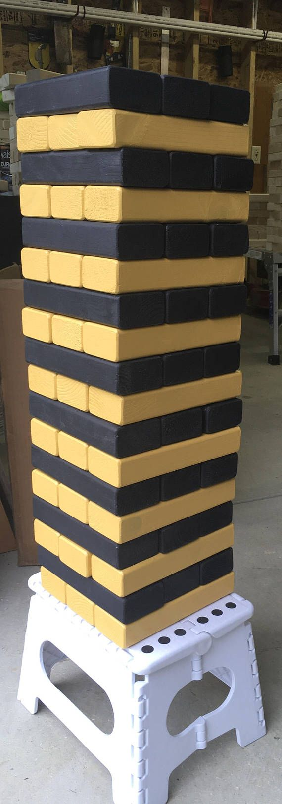 Jumbo wood blocks  GameBlack and Gold Jenga  Pittsburgh