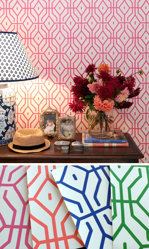 anna spiro wallpaper: Spiro Wallpapers, Anna Spiro, Posey Trellis, Rosey Posey, Porter Paintings, Trellis Wallpapers, Geometric Wallpaper, Powder Rooms, Wallpapers Design