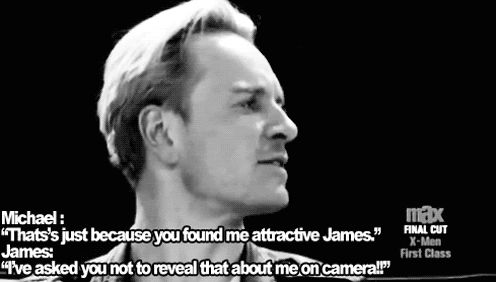 X Men: First Class Cast Interview *gif* Michael Fassbender and James McAvoy