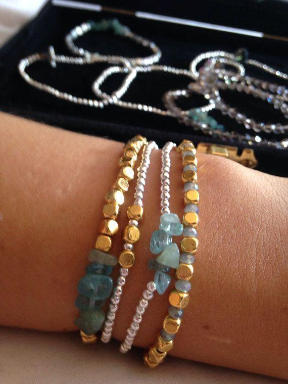 Silver Plated Sea Glass Bracelet gift by Alwaysbethemermaid