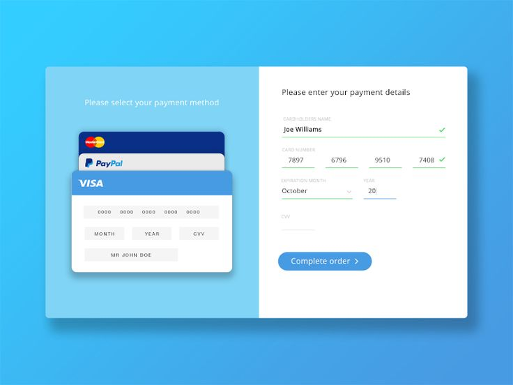 32 best Попапи, форми images on Pinterest Ui forms, Mobile web - credit card form