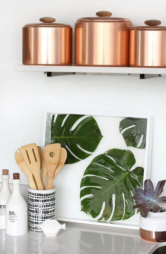 » MY DIY | Monstera Palm leaf Resin Tray