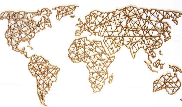 Mapa mundi geométrico lindo de se ver!  Pagamento em até 3x no paypal. E enviamos pra todo brasiiiil!  #lasercut #arte #art #decor #design #interiordesign #mapa #mapamundi #world #worldmap #interiordesign #homedecor #mandaladesign #mandala by vivianchiabay