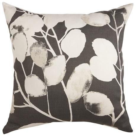 Leaf Sketch Cushion 50x50cm  Grey