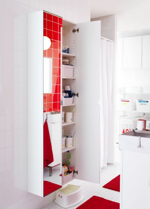 Get lots of storage in a small amount of space with the for Bathroom cabinets 400mm high