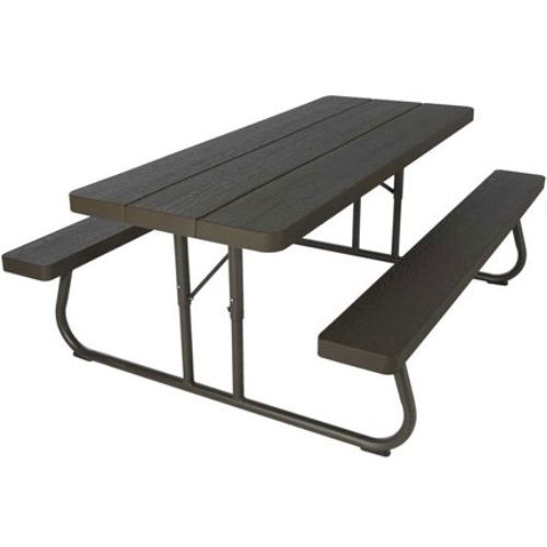 Lifetime Folding Picnic Table 60105 6 Foot Dark Brown Faux Wood Part 81