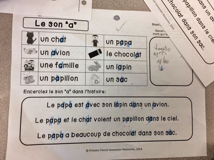 French Immersion / Core French - Reading sound centres to help your students learn and practice their French reading sound blends!