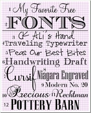 """Hard to find a good handwriting font ... like that """"Peas"""" one."""