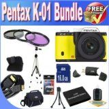 Online Pentax K-01 16MP APS-C CMOS Compact Technique Camera With 40mm Lens (Yellow) + Extended Life Battery + 16GB SDHC Class 10 Memory Card + USB Card Reader + Memory Card Wallet + Deluxe Circumstance w/Strap + Shock Proof Deluxe Situation + Mini HDMI to HDMI Cable + 3 Piece Skilled Filter Package + Professional Total Measurement Tripod + Accessory Saver Bundle! On Amazon - http://buyingmanual.com/online-pentax-k-01-16mp-aps-c-cmos-compact-technique-camera-with-40mm-lens-yel