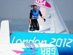 Saskia Clark of Great Britain celebrates