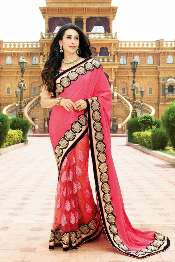 Buy Pink Net Designer Bollywood Saree Online in low price at Variation. Huge collection of Bollywood Sarees for Party, Festival and All celebrations. #party #bollywood #bollywoodsarees #sarees #onlineshopping #latest #lowprice #variation #modern #farewell. To see more - https://www.variationfashion.com/collections/bollywood-sarees.