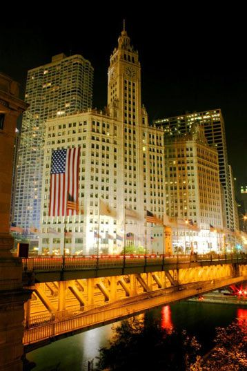 The Wrigley Building Chicago  The jewel of the magnificent mile.  The view from one of my office windows.