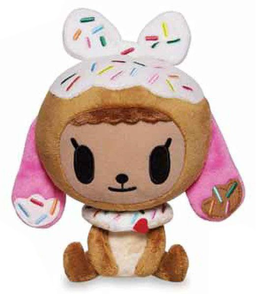 Tokidoki Donutina Plush: Make this ultra sweet Donutina plush part of your collection. Complete with a kawaii sprinkled donut collar, this plush constructed from our super duper soft tokidoki fleece is sure to be a cozy addition to your home. Essential to any Donutella fan!