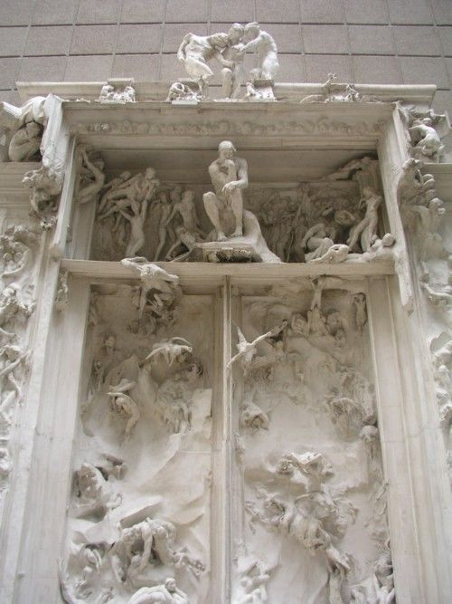 The Gates of Hell, Auguste Rodin. AUGUSTE RODIN. The Gates of Hell, 1880-1917, high relief and plaster. Via: artmagnifique.tumblr