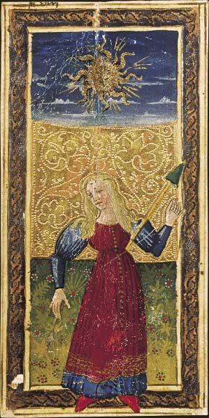 Le Soleil, Tarot dit de Charles VI, fin du XVe siècle, Italie du Nord