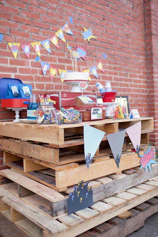 Vintage Superhero Birthday Party via Karas Party Ideas | KarasPartyIdeas.com #vintage #superhero #birthday #party (23)