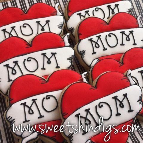 rock n roll baby shower | Sweet Shindigs: Mom Heart Tattoo Cookies