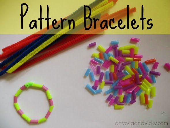 Pattern Bracelet Activity For Kids Pattern Activities Preschool Patterns Math Patterns Pattern activities for preschoolers