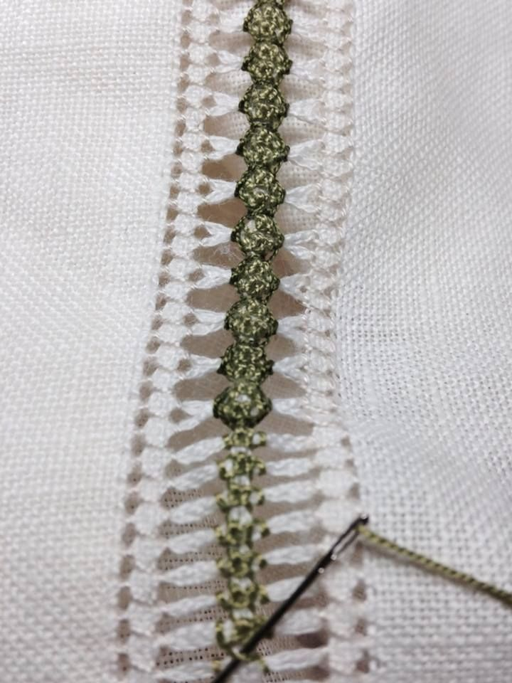 Gorgeous use of pulled thread