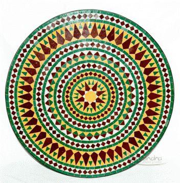 Mesa árabe mosaíco