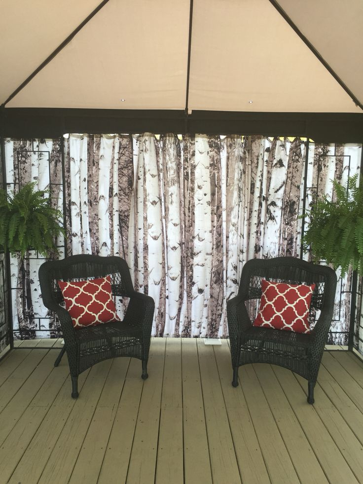 Shower Curtains As Gazebo Privacy Screen Great Idea