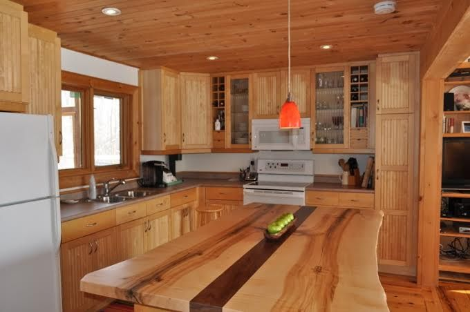 Live Edge Island Wood Island Kitchen Islands Wood