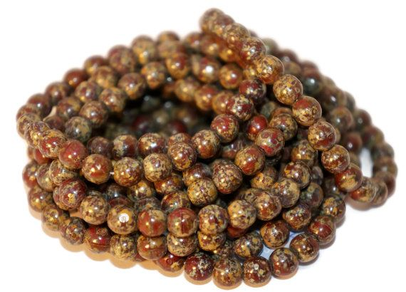 Picasso Czech Glass Beads Round Brown Original Exclusive Authentic 6mm 20pc  #beads #czechbeads #czechoriginalbeads #czechauthenticbead #czechglassbeads #glassbeads #picasso #picassobeads #czechbeadspicasso #etsy