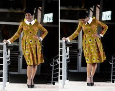 SUNSHINE Long Sleeve Dress; African clothing, African Ankara Dress; African Dress; African Dress; African Clothing; African Dashiki