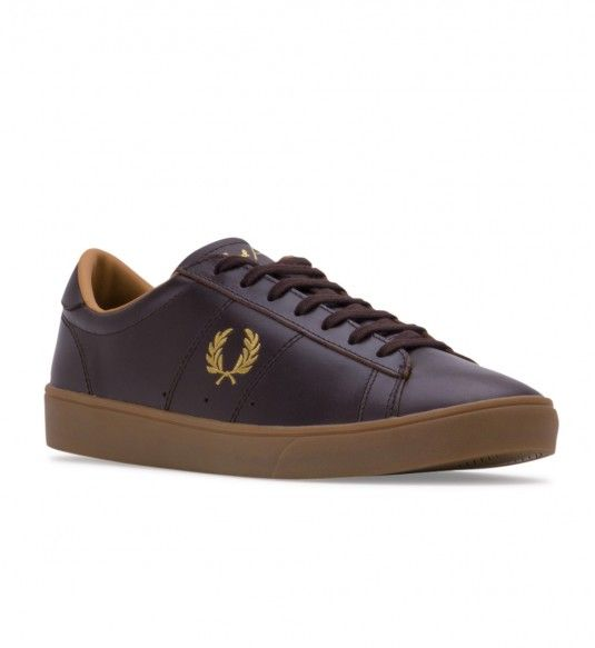 FRED PERRY Men's B5248 Spencer Leather Dark Chocolate